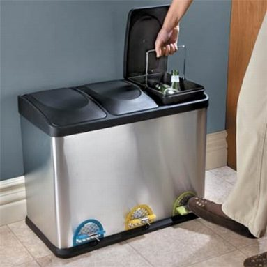2 & 3 Compartment Recycling Bins