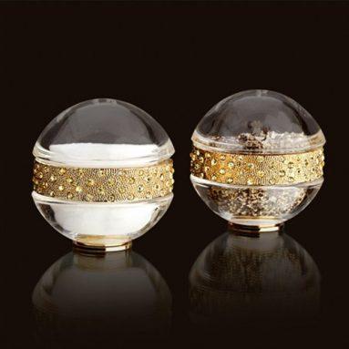Swarovski crystals and gold Salt Pepper Set