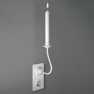 Non-electric candleholder