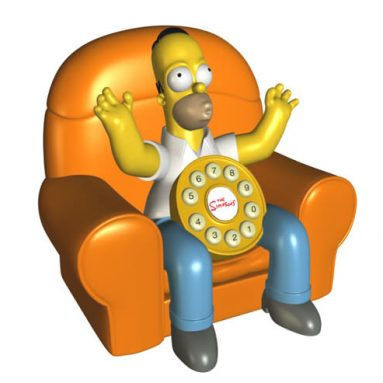 Simpson Animated Telephone