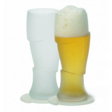 Sliced Cold Beer Glasses Set of 2