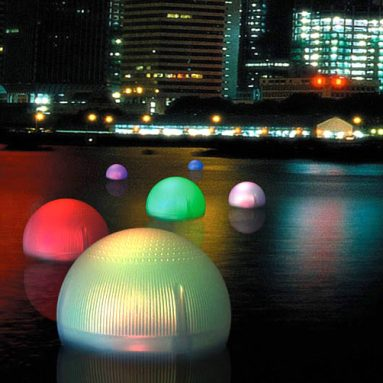 Solar light floating ball