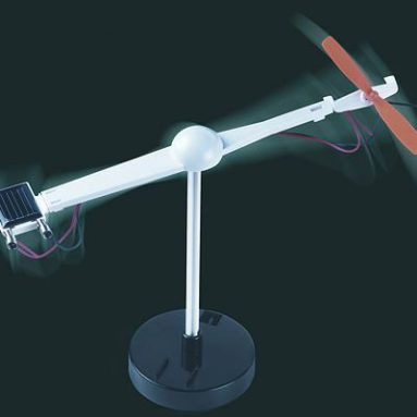 Solar panel, motor and rotor blades