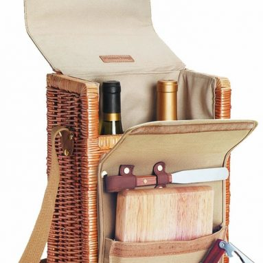 Picnic Time Corsica Bottle Wine and Cheese Basket