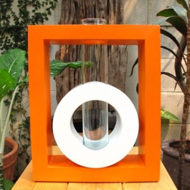 Rectangular Shape Modern Art Mango Wood Vase