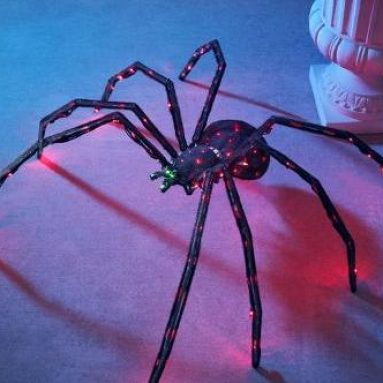 Inch Twitching Lighted Spider
