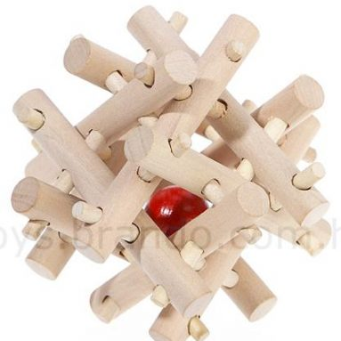 The Wooden Virus IQ Puzzle