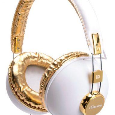 Headband Headphones – White & Gold