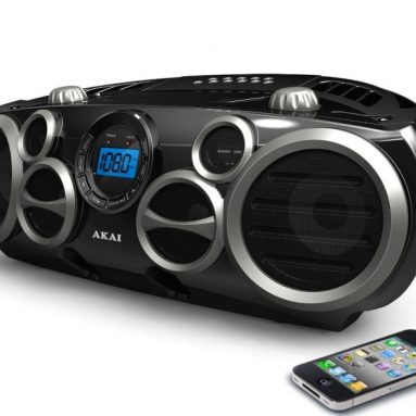 Top Load CD Boombox with MP3 Input and AM/FM Radio
