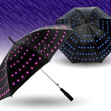 Umbrella glowing lights
