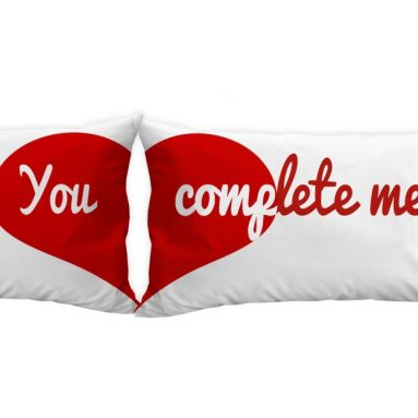 You Complete Me Heart Pillow Cases