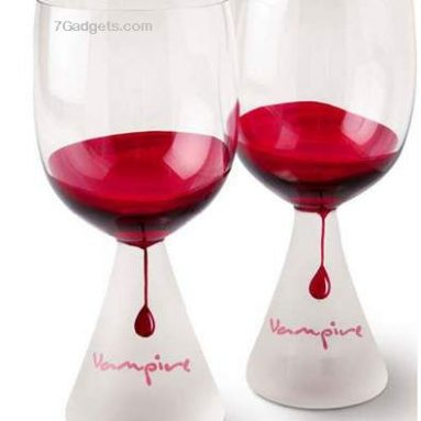 Vampire wine glasses set