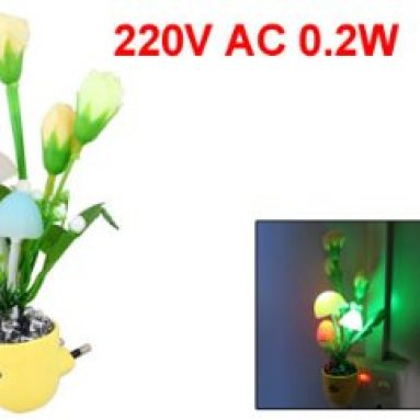 Colors Mushroom Flower Structure LED Changing Light Night Lamp