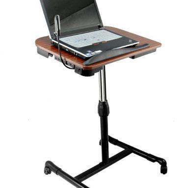 Adjustable Wooden Laptop Desk with Built in Cooling Fan