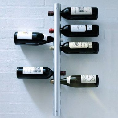 Wall-Mounted Stainless Steel 12-Bottle Wine Rack