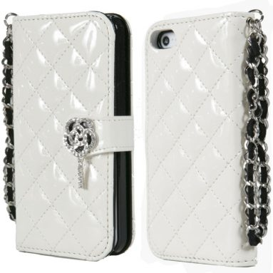 Diamond Quilted Fashion Wallet Case for iPhone 5