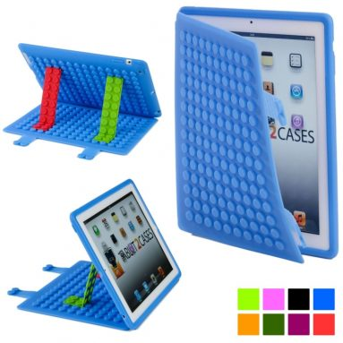 Blocks Apple iPad 2/3/4 Silicon Folio Case