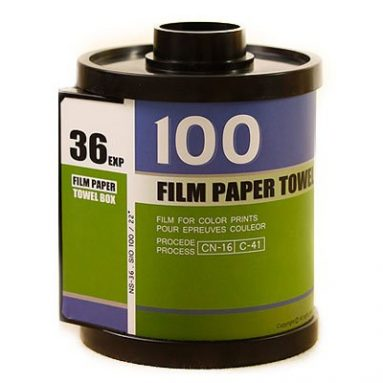 Film cartridge design tissue box