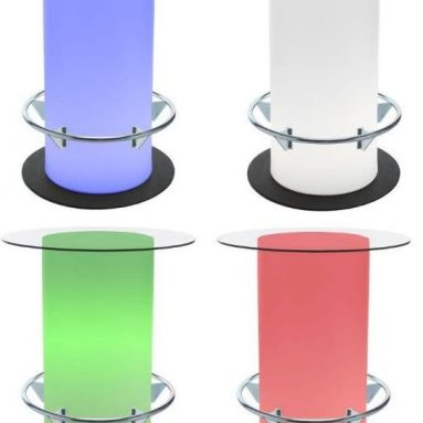 Lighted Poolside Bistro Table