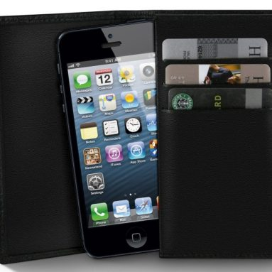 MiniSuit Apple iPhone 5 leather wallet