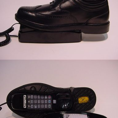 Shoe Custom Corded Telephone