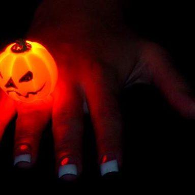 Flashing Pumpkin Ring