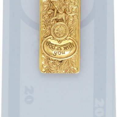 The Vatican Library Collection Lamb of God Gold Tone Money Clip