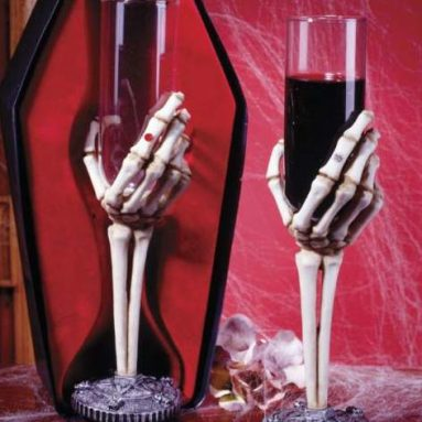 Skeleton Hand Wine Glass