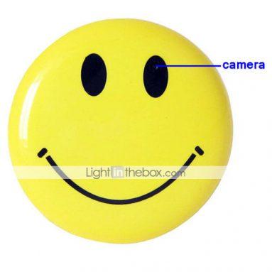 Brooch Smile Face Recorder/Hidden Camera