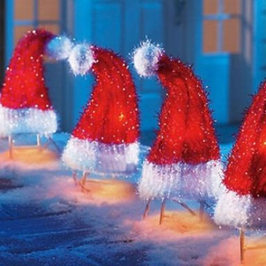 Santa Hat Path Lights