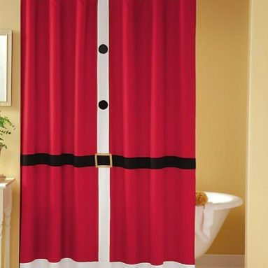 Santa Suit Shower Curtain