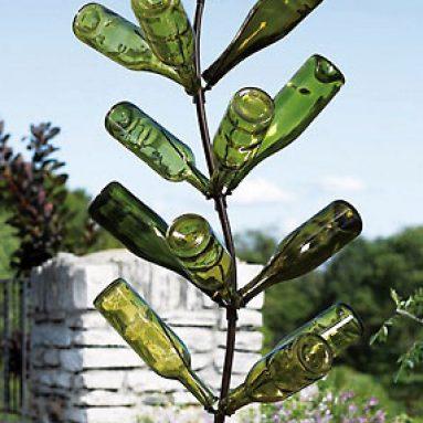 Sunflower Bottle Tree Garden Decor