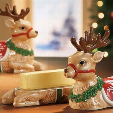 Reindeer Butter Dish
