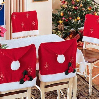 Santa Chair Cover Set