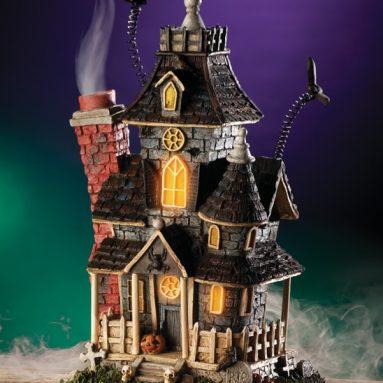 Haunted Smoking Mansion Lighted Halloween Incense Burner