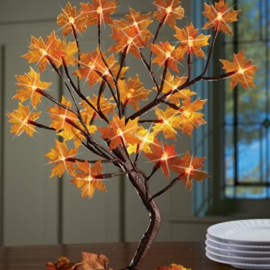 Lighted Maple Tree Branches Fall Decoration