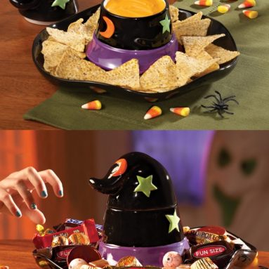 Witch Hat Halloween Chip and Dip Set