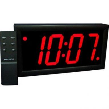 Jumbo 4″ Numbers LED Digital Alarm Clock with Remote