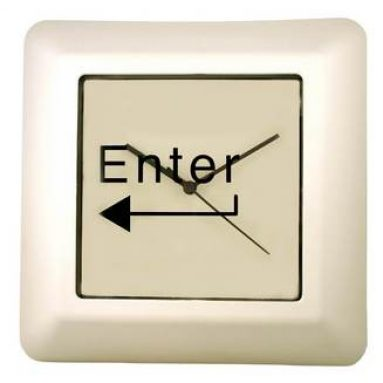 ENTER Command Key Wall Clock