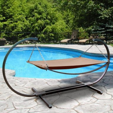 Outdoor Stand and Polyester Hammock Bed