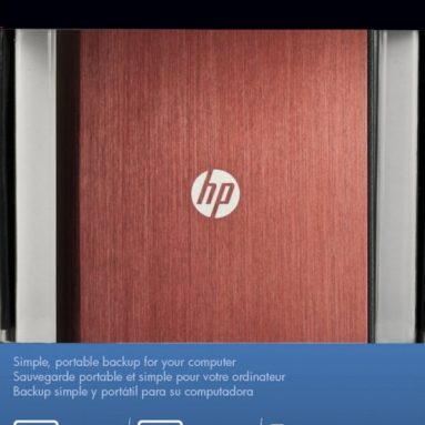 HP 1TB Red Brushed Aluminum Portable Hard Drive