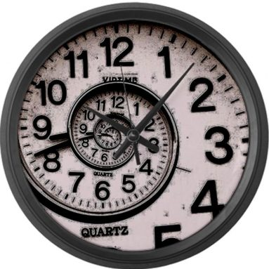 Spiral Face Large Wall Clock by CafePress