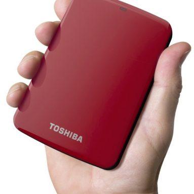 Toshiba Red Canvio Connect 2TB Portable Hard Drive